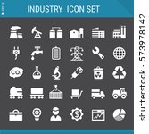 industrial icons collection | Shutterstock .eps vector #573978142