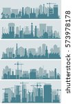 industrial city skyline sets | Shutterstock .eps vector #573978178