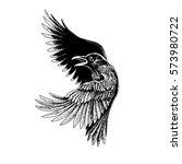 Image by Shutterstock Black Raven In Grunge Art Men/'s Tee
