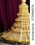 Small photo of The Gold-adorned Palanquin , Royal Palace Phnom Penh Cambodia