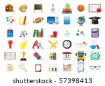 set of education icons isolated ... | Shutterstock .eps vector #57398413