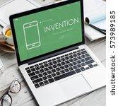mobile phone application... | Shutterstock . vector #573989185