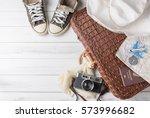 travel accessories costumes.... | Shutterstock . vector #573996682