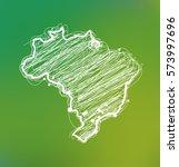 draw sketch brazil map  | Shutterstock .eps vector #573997696