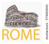 rome vector illustration.... | Shutterstock .eps vector #574003042
