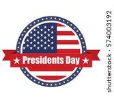 presidents day. usa flag on... | Shutterstock .eps vector #574003192
