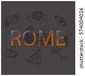 rome vector illustration | Shutterstock .eps vector #574004026
