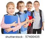 happy schoolchild isolated on...   Shutterstock . vector #57400435