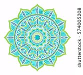 mandala. colorful ethnic round... | Shutterstock .eps vector #574005208