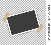 photo frame with shadow on... | Shutterstock .eps vector #574007086