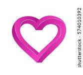 pink heart 3d | Shutterstock .eps vector #574010392
