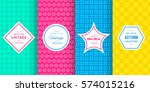 cute bright seamless pattern... | Shutterstock .eps vector #574015216