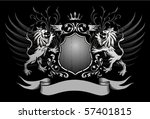 lions shield and crown winged... | Shutterstock .eps vector #57401815