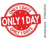 Only 1 Day Grunge Rubber Stamp...
