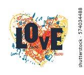 vector sweet heart art... | Shutterstock .eps vector #574034488