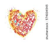 vector sweet heart art... | Shutterstock .eps vector #574034545