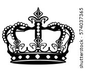 crown silhouette clip art... | Shutterstock .eps vector #574037365
