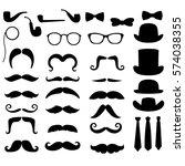 gentleman silhouette clip art... | Shutterstock .eps vector #574038355