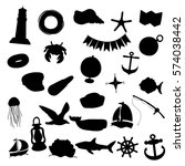 Nautical Silhouette Clip Art...