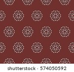modern decorative floral... | Shutterstock .eps vector #574050592