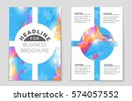 abstract vector layout... | Shutterstock .eps vector #574057552