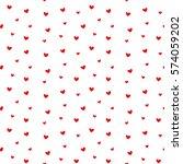seamless heart pattern vector... | Shutterstock .eps vector #574059202