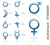 zodiac and astrology symbols of ...