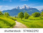 beautiful view of idyllic... | Shutterstock . vector #574062292