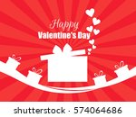 happy valentines day. hearts... | Shutterstock .eps vector #574064686
