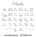 hand drawn calligraphic font in ... | Shutterstock .eps vector #57406762