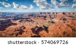 aerial panoramic view of scenic ... | Shutterstock . vector #574069726