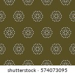 creative geometric seamless... | Shutterstock .eps vector #574073095