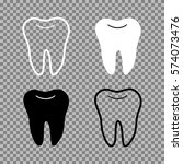 a set of teeth. white black and ... | Shutterstock .eps vector #574073476