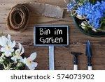 spring flowers  sign  bin im... | Shutterstock . vector #574073902