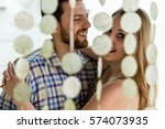 affectionate young couple...   Shutterstock . vector #574073935