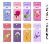 essential oil labels set. rose  ...   Shutterstock .eps vector #574075078