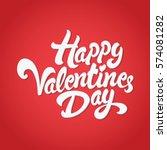happy valentines day hand drawn ...   Shutterstock .eps vector #574081282
