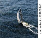 sailing yacht. yachting. sailing | Shutterstock . vector #574083145
