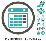 month calendar icon with bonus...   Shutterstock .eps vector #574086622