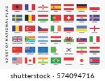 collection of set national flag | Shutterstock vector #574094716