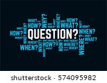 questions typography text word... | Shutterstock .eps vector #574095982