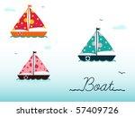 cartoon boats | Shutterstock .eps vector #57409726