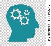 soft blue intellect gears... | Shutterstock .eps vector #574103242
