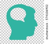 cyan person thinking interface... | Shutterstock .eps vector #574106902