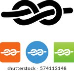 rope tied into a figure eight... | Shutterstock .eps vector #574113148