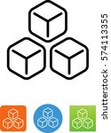 3 ice cubes icon | Shutterstock .eps vector #574113355