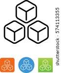 3 ice cubes icon