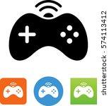 video game controller icon   Shutterstock .eps vector #574113412
