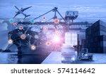business logistics concept ...   Shutterstock . vector #574114642