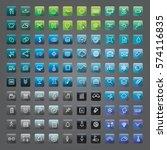 icon collection vector... | Shutterstock .eps vector #574116835